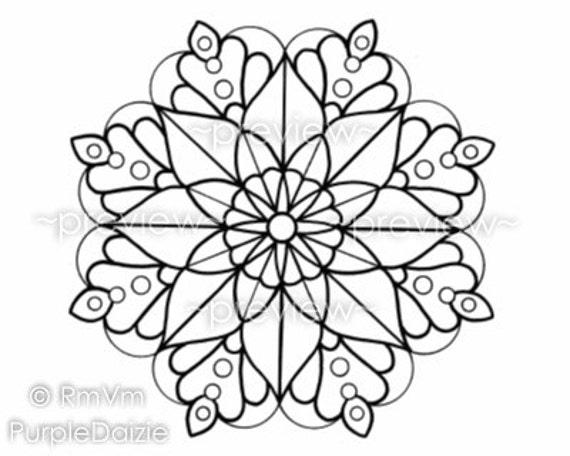 Mandala Color Page Coloring Page Printable Mandala Large JPEG