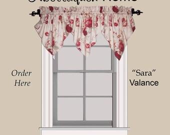 """Abellaquen Home Valance Pattern """"Sara"""""""