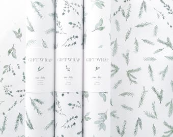 Garden Herb Wrapping Paper - Set of 3