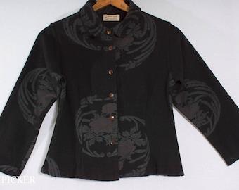 "Vintage 1990s Romantic Boutique Brocade ""Sawasdee"" Label Blazer Jacket Petite XS"