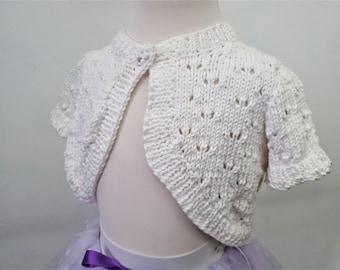 Tiny Bolero- hand made knitting cotton