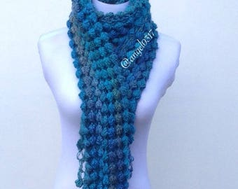Crochet Scarf,Women Accessories,Women Scarf,Long Scarf,Neck Warmer, for Winter Scarf.Fall Scarf,Handmade Scarf,Unique Stile Scarf