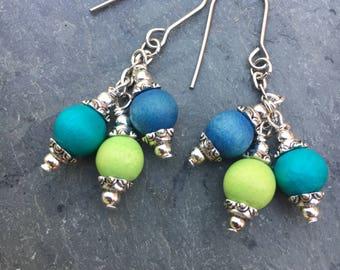 Boho Earrings, Colorful Earrings, Beach Earrings, Summer Earrings, Dangle Earrings, Cluster Earrings, Earrings