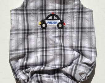 First Responders Baby Bubble, Policeman, Firetruck, Made in the USA, Police Car, Firetruck, monogram available, police car, law enforcement