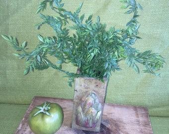 Greenery in vintage styled vase~Farmhouse Decor~Centerpiece Table Decor