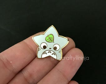 Kawaii Chubby Mouse Lilninja Star Hard Enamel Pin, Kawaii Enamel Pin