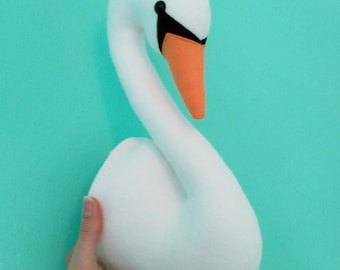 Felt Swan Faux Taxidermy Wall Art