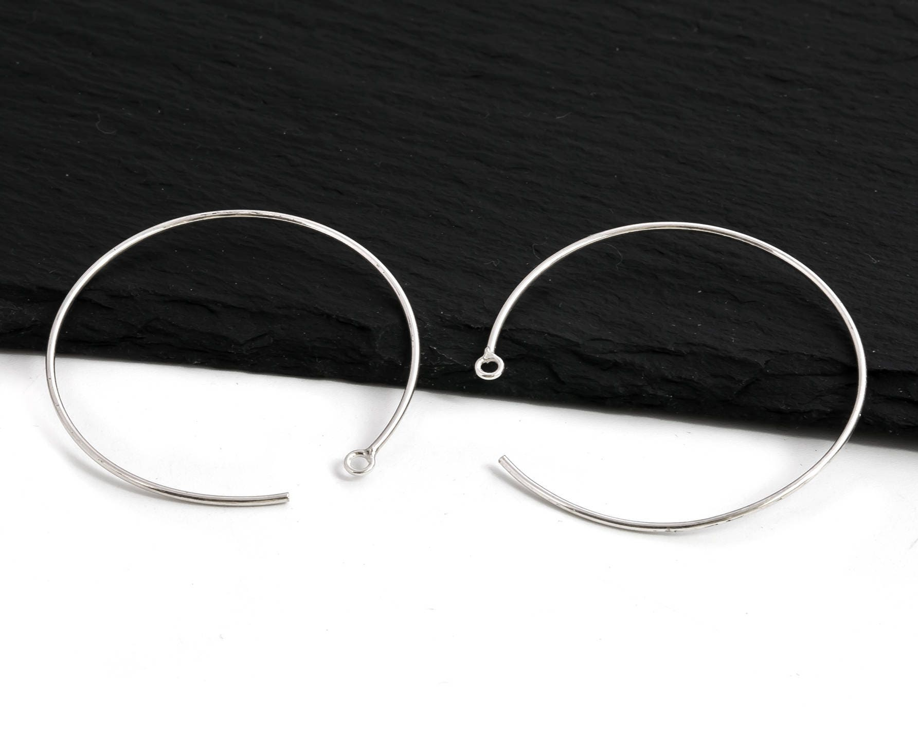 wire earring hoop zoom il circle silver fullxfull open earrings sterling listing