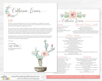 Cactus Flower Custom Sorority Recruitment Packet- Digital Printable OR Printed (includes shipping!)