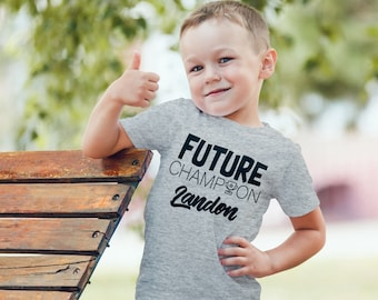 Future Champion Kids Shirt Custom Name (Included Free) Personalized Infant Toddler Baby Youth Boys Girls