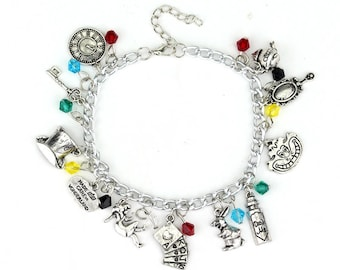 Supernatural Charm Bracelet featuring Sam, Dean, and Castiel Charms with Beads