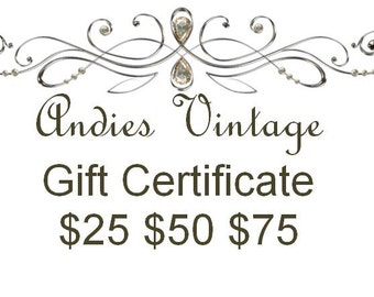 Gift Certificate gift card Discount card Christmas gift Holiday gift birthday gift Mothers Day
