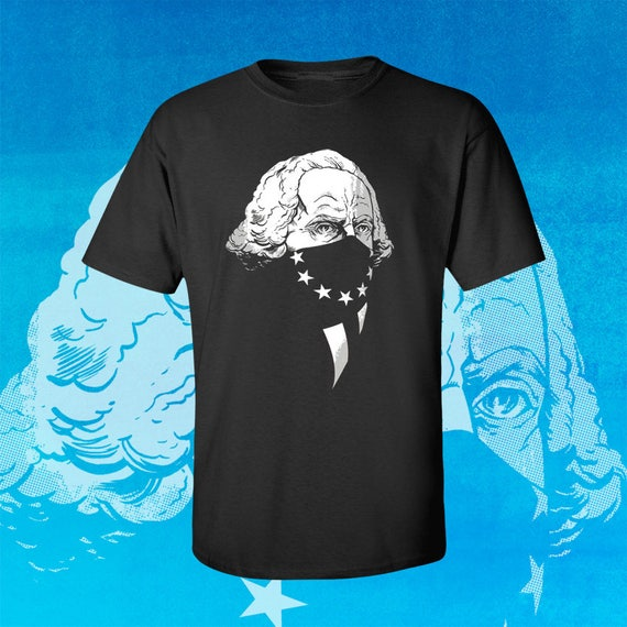 GEORGE WASHINGTON Original Gangsta - Men's Fitted Graphic T-Shirt by Rob Ozborne - Independence Day 4th of July