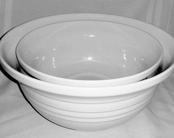 Vintage White Mixing Bowls