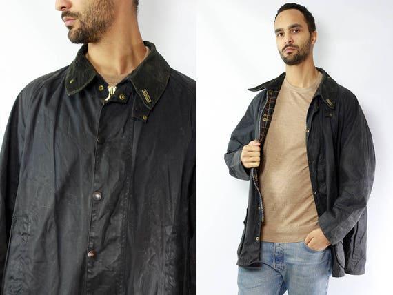 Barbour Beaufort / Barbour Jacket / Barbour Wax Coat / Vintage Wax Coat / Barbour Coat / Wax Jacket Barbour / Wax Coat  Barbour Vintage Coat