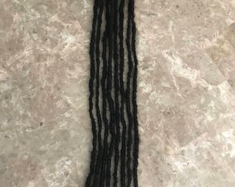 Small (4-5mm) Human Hair Dread Extentions (Pack/Bundle of 10)