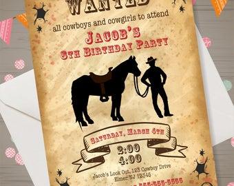 Cowboy Invitation Cowboy Birthday Party Cowboy Invite Western Invitation Cowboy Party Supplies Cowboy Printables Western Birthday Invitation