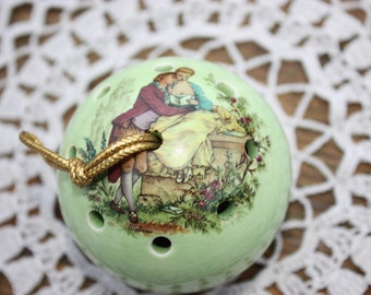 Ye Olde Ceramic Pomander  - Watteau