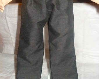 Handmade basic black pants for 18 inch Dolls - ag182