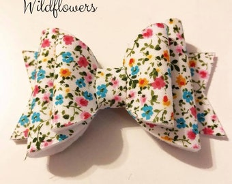 Wildflowers Spring Little Mini Bow