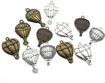 Hot Air Balloon Charm Collection -100g(about 54pcs) Craft Supplies Charms Pendants for Crafting, Jewelry Findings Making Accessory M9