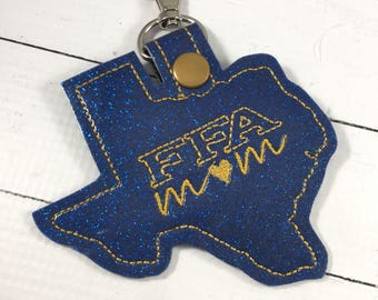 Texas FFA Mom spirit tags- FFA gifts - backpack tags - future farmers of America -school spirit