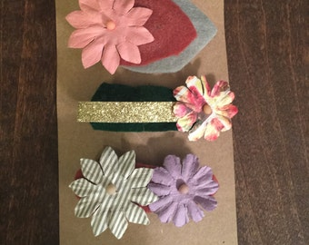 Flower power clips
