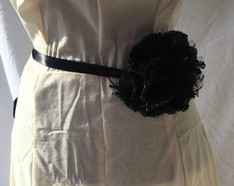 Black Bridal Sash Belt, bridal sash belt, wedding sash, bridal belt, wedding dress sash, wedding dress belt