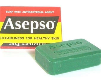 4x80g./2.8oz. Asepso Soap Original Antibacterial Agent Cleanser Healthy Skin