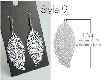 Filigree Earrings Style 9 Stainless Steel Setting As Seen On Jane.com