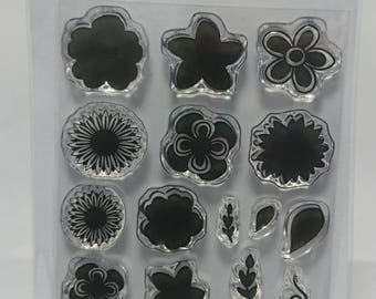 Mini Flowers - A7 Stamp Set by Imagine Design Create