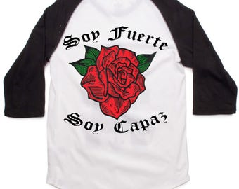 "Black Baseball ""Soy Fuerte Soy Capaz"" Shirt"