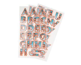 Wonder Woman Iron On Applique,  Wonder Woman Alphabets Patch, Genuine DC Comics Patch, Superhero Applique, Embroidered Patch, Kids Patch
