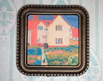 Miniature 1:12 Dollhouse Painting - Spencer Gore - Harold Gilman's House at Letchworth