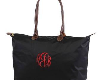 "21"" Nylon Tote Bag Oversize Tote, Monogram Tote, Monogrammed tote, Nylon Bag, Monogrammed Carry on, Overnight Bag"