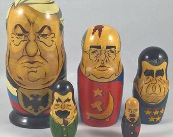 Vintage Russian Presidents Nesting Dolls