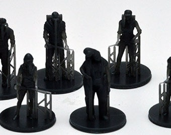 Set of 10 figures for board game Robinson Crusoe