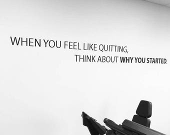 Physical Therapy office decor, Gym Wall Decal, fitness motivation. Commercial Gym Wall Decal