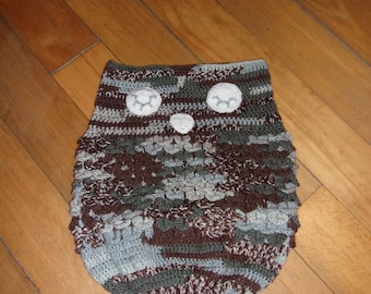 Baby Bunting pattern OWL / OWL / / baby cocoon / / swaddling sock