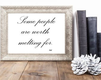 Disney Movie Quote | Quote from Frozen | Printable Disney Quote | Instant Download