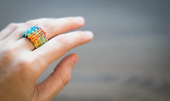 Hippie art ring