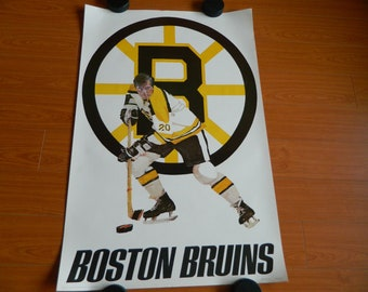 1973 Boston Bruins poster by Sports Graphics USA Original NHL Beauty condition Large