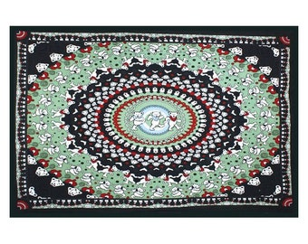 Grateful Dead Dancing Bears Tapestry Wall Hanging Deadhead Festivals   30x45 inches