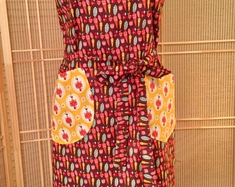 Full apron, vegetable apron, kitchen apron