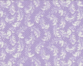 Lavendar Ferns, 100% Cotton Fabric, Sold by Half Yard (22231)