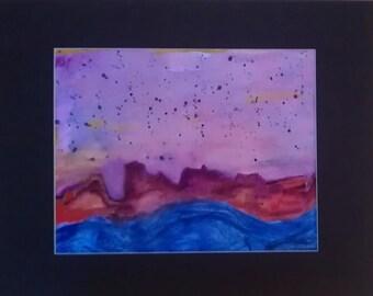 Primitive Art Landscape, Primitive Painting, Primitive Art, Colorful Painting, Colorful Art, Wall Art, Wall Decor, Landscape Painting