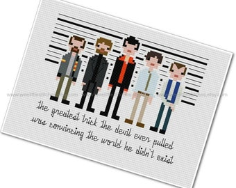 The *Original* Pixel People - The Usual Suspects - PDF Cross-stitch PATTERN - Instant Download