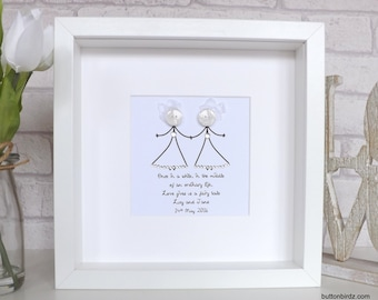 Personalised Wedding / Brides picture- 'Love Gives us a Fairy tale'