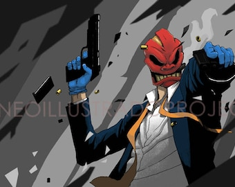 Masked Gunman by Dave Aballe