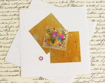 La Lettre Précieuse or et rose - Papier à lettres et mandala-bijou strass - Création artiste, fait main, pièce unique